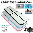 10-16FT Inflatable Airtrack Gymnastics Tumbling Mat Training Home Gym w/ Pump image