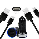 Wall Car Charger USB-C Cable for Samsung Galaxy S10+ G5 S9 S8 Plus A50 A70 A80