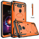 For LG X Charge/Fiesta 2 LTE/X Power 2 3 Phone Case Cover+Glass Screen Protector