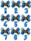 Gamer Blue 30'' Age Number Happy Birthday 6 Helium Party Balloons Computer Games
