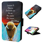 Tinkerbell Quote - Flip Phone Case Wallet Cover - Fits Iphones & Samsung