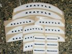 SEATTLE SEAHAWKS Bumper Football Helmet Decal Set Qty (1) Set 3M 20MIL $6.99 USD on eBay