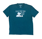 Peanuts Mens Snoopy Please Don't Make Me Do Stuff Licensed T-Shirt Green 2XL New