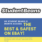 UK STUDENT BEANS - 12 UK MONTH FULL ACCESS - AS GOOD AS UNIDAYS!! VERY RARE!!