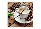 WALL CLOCK - CLOCK ON GLASS Coffee seeds Cup - 12 SHAPES - UK 2546