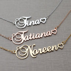 Personalised Name Heart Necklace Stainless Steel Any Font/ Length Gift For Her