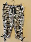 KOS USA Adult Pants Capri Camouflage Black/Gray
