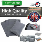 Strong Mailing Bags Large Medium Small Grey Plastic Postage Postal Bags All size