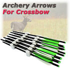 12x Archery Hunting Shooting Aluminum Arrows Screw-in Points Tips For Crossbow
