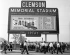 Clemson Tigers Football Death Valley 1961 Fans Schedule Print Photo Picture