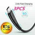 3pcs Type C Cable For Samsung Galaxy S10 S9 S8+ Note9 Note8 Fast Charging USB-C
