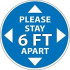 Please Stay 6' feet ft apart Social Distancing Decal 4 Retail FAST SHIP p651