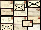 GB QV Penny Reds Covers Envelopes SCOTLAND Postmarks ...Priced Individually