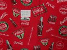 Coke - Coca-Cola OOP RARE Logo Quilting Cotton Fabric Pre Cut Pieces You Choose