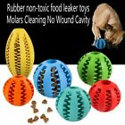 Pets Leaking Food Ball Toys Elastic Natural Rubber Dog Clean Teeth Bite Ball #!