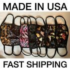 Trendy & Comfortable Fashion Animal Print Face Masks (made In Usa) Adults/kids S