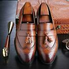 Bigger Sizes 37-48 Men's Leather Loafers Brand Shoes Classic Tassel Brogue.