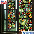 Kyпить 3D Static Clings Window Films Frosted Stained Camellia Glass Sticker Home Decor на еВаy.соm