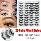 Kyпить 20 pairs Eyelashes 3D Mink False Lashes Natural Dramatic Fake Eyelash Extensions на еВаy.соm