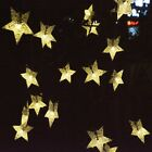 30 60 LED Solar Powered Fairy String Twinkle Star Lights Outdoor Garden Party UK