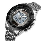 SKMEI Men's Solar Power Quartz Fashion Digital Analog Waterproof Sports Watch US image