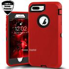 For iPhone 6 6s 7 8 Plus SE 2 Defender Shockproof Case Cover w/ Screen Protector