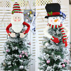 Supplies Snowman Holiday Party Decoration Cute Christmas Tree Topper Lovely Hug