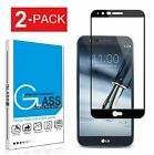 2-Pack Tempered Glass Full Coverage Screen Protector For LG Stylo 3 4 5 Plus