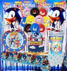 Sonic Box Cake Cupcake Topper Party Balloon Decoration Birthday Plate Banner Cup