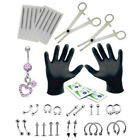 14G16G Professional Piercing Navel Tool Kit Belly Ring Tongue Nose Body Jewelry