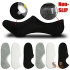 3-12 Pairs Mens Invisible No Show Cotton Loafer Non Slip Low Cut Socks 10-13
