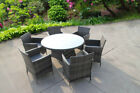Bistro Garden Rattan Wicker Outdoor Dining Furniture Set Table Chairs 2 4 6