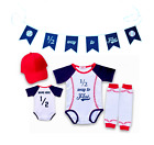 Personalized Baseball Bodysuit Romper Outfit Shirt Set Half Birthday