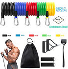 11 PCS Resistance Band Set Yoga Abs Exercise Fitness Tube Gym Home Workout Bands image