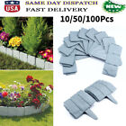 New Home Garden Border Edging Plactic Fence Stone Lawn Yard Flower Bed Decor lot