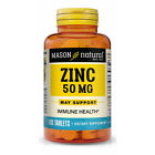 Mason Natural Zinc 50 mg Boost Immune System Support Health 100 Tablets $8.89 USD on eBay