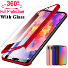 360 Full Cover Case  Tempered Glass For Huawei P30 P20 Pro Mate 20 P10 P9 Lite