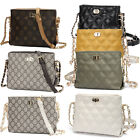 Fashion Quilted Small Crossbody Chain Bag Women Messenger Purse Pu Shoulder Bag