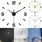 2020 DIY 3D Large Number Mirror Sticker Wall Clock Watch Home Decor Art Digital