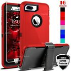 For iPhone 6 7 8 Plus Shockproof Defender Case w/ Belt Clip  Screen Protector