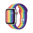 Pride Rainbow For Apple Watch Band 38/40mm 42/44mm Series 5 4 3 2 1 Wrist Strap image