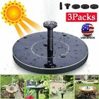 Outdoor Solar Powered Floating Water Fountain Pump Bird Bath Garden Pond Pool US