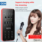 External Audio Microphone Live-uitzending Sound Card For iOS Android PC