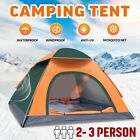 2-3 Person Instant Up Auto Camping Tent Waterproof Outdoor Hiking Traveling US