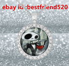 Fashion Jewelry 925 Silver Rhinestone Nightmare Before Christmas Jack Necklace#1