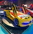 FERRARI RACING CAR BED CHILDREN'S SINGLE BED  RED YELLOW BLUE WHITE  LED LIGHTS