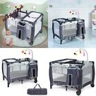 Foldable Travel Baby Crib Playpen Infant Bassinet Bed W/ Carry Bag