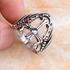 JUNE SPECIAL 70%OFF 316L Stainless Steel See-through Skull Carve Cross Ring#803