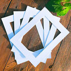 White Picture Photo Frame Mounts Bevel Cut Mount Paperboard Square New