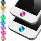 New Colorful Aluminium Metal Round Home Button Sticker for iphone 4S 5C
